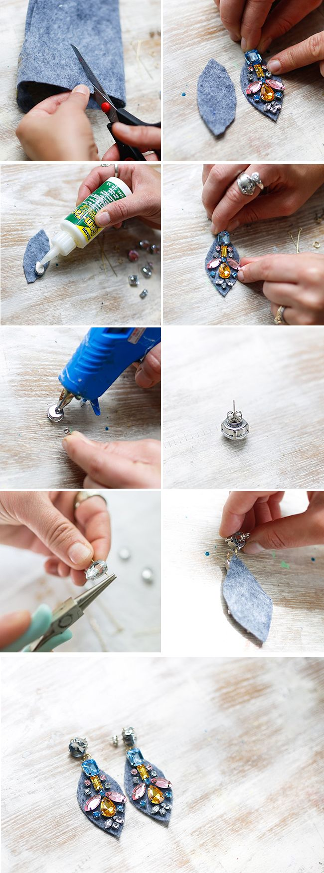 DIY J. CREW JEWEL EARRINGS - #diy, earrings
