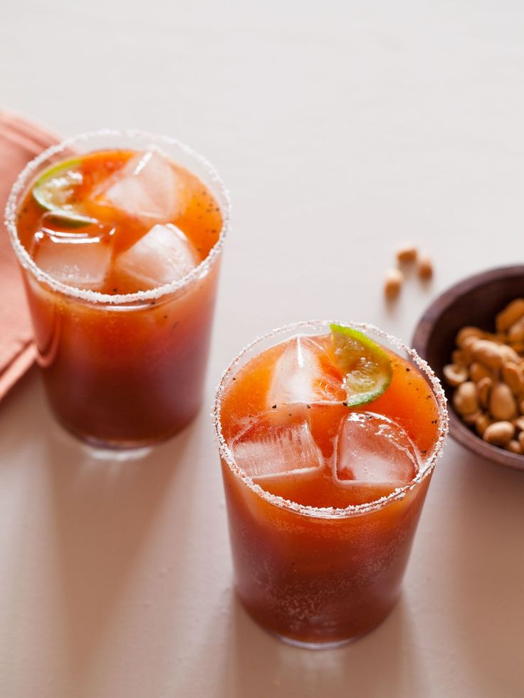 This recipe for our Spicy Michelada is rimmed with salt, and simple topped with a lime wedge.