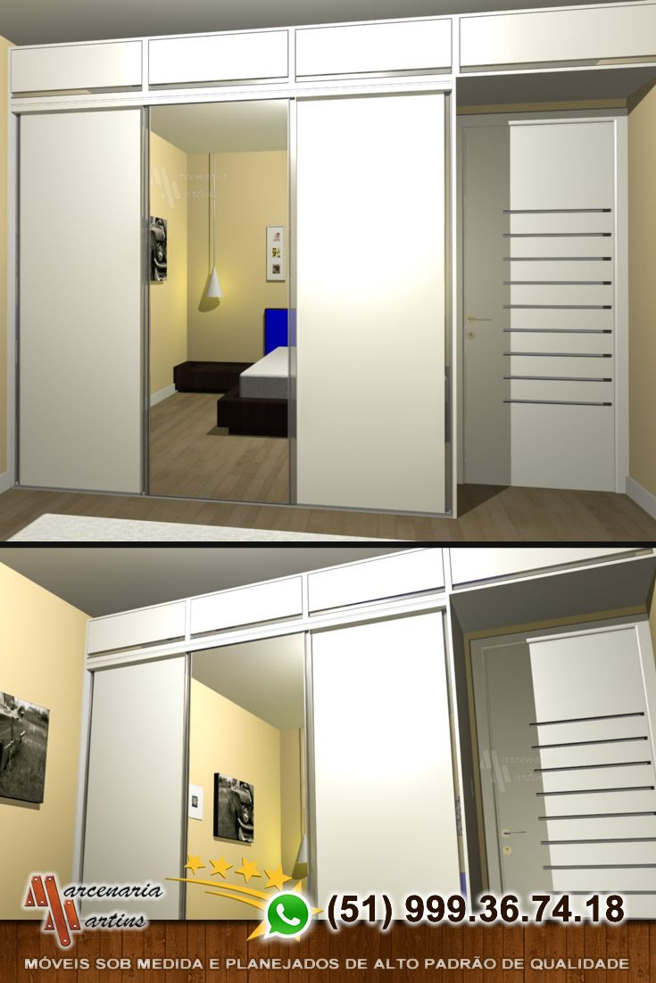 Roupeiro Branco Com 3 Portas De Correr Porta Com Espelho 6 Gavetas Cabideiro Maleiro Roupeiro Branco Roupeiro De Parede Roupeiro