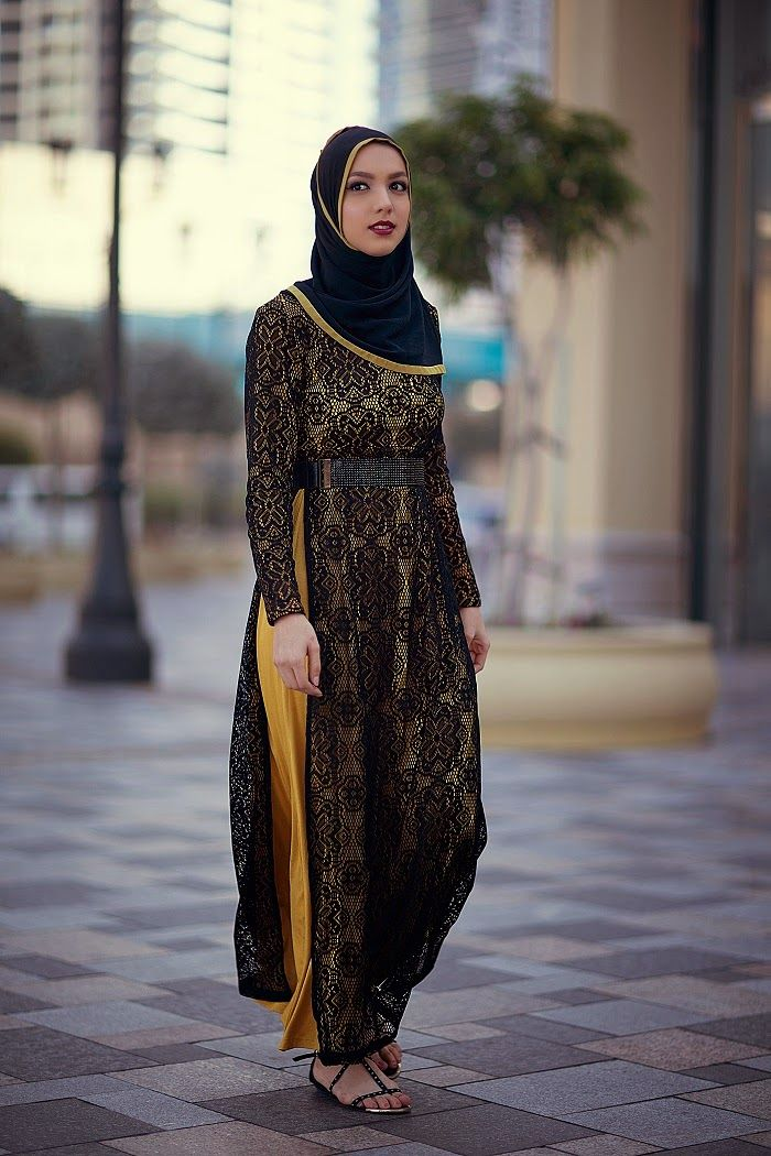 laylee moda lace dress, hijabi fashion, dubai, hani hulu
