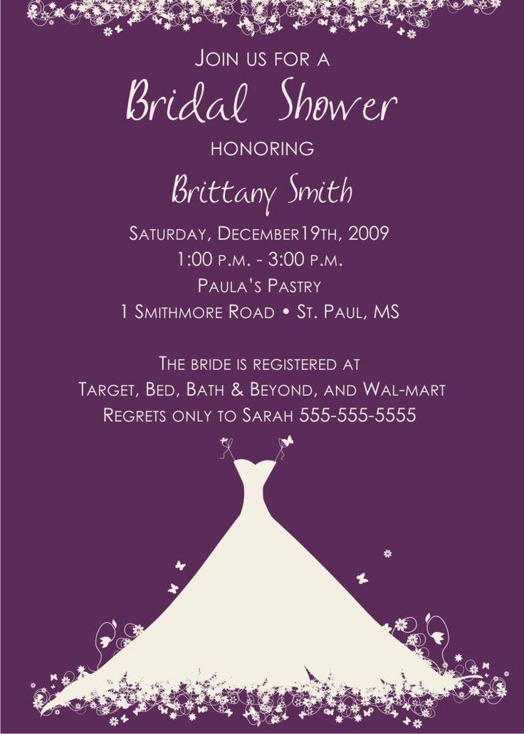 Bridal shower invitation wording gift cards only bridal for Custom wedding shower invitations