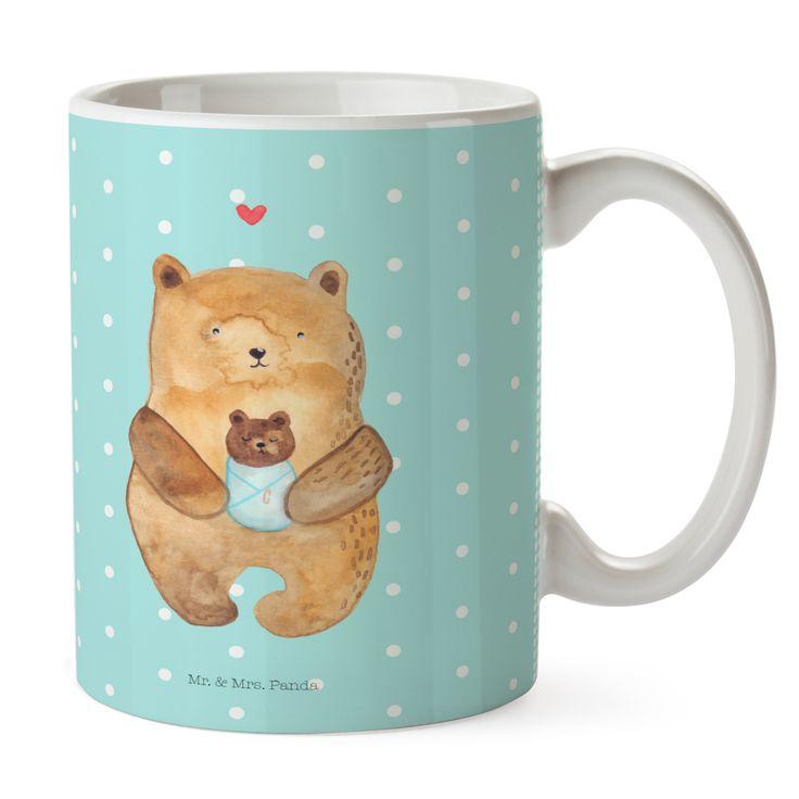 Tasse Bär mit Baby aus Keramik  Weiß - Das Original von Mr. & Mrs. Panda.  Eine wunderschöne spülmaschinenfeste Keramiktasse (bis zu 2000 Waschgänge!!!) aus dem Hause Mr. & Mrs. Panda, liebevoll verziert mit handentworfenen Sprüchen, Motiven und Zeichnungen. Unsere Tassen sind immer ein besonders liebevolles und einzigartiges Geschenk. Jede Tasse wird von Mrs. Panda entworfen und in liebevoller Arbeit in unserer Manufaktur in Norddeutschland gefertigt.     Über unser Motiv Bär mit Baby  Der…