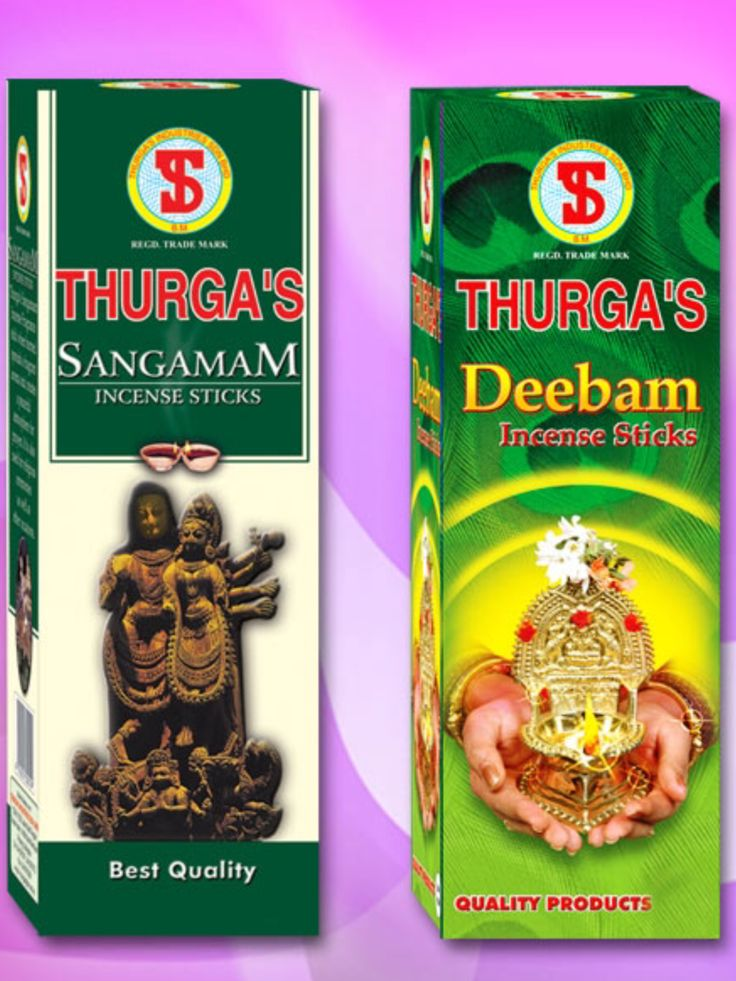 THURGA's Sangamam & Deebam Incense $3 per packet/12 sticks available @ Qincense.com.au