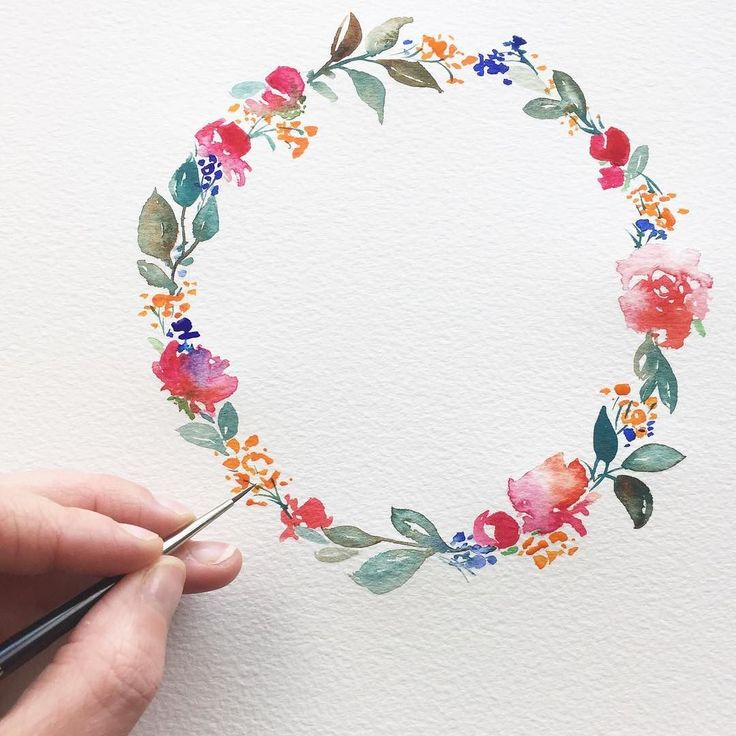 F U L L / c i r c l e I chose this wreath as my last post of the year as it was one that strongly resonated with you guys. I painted it in preparation to teach watercolour students at @handmadefair which was just one of the amazing experiences of the year. Thank you so much for your warmth and your conversation on insta this year; it is a wonderful place for inspiration and community. I have really enjoyed 2017 and to finish off the year by winning @twia_official best south west wedding…