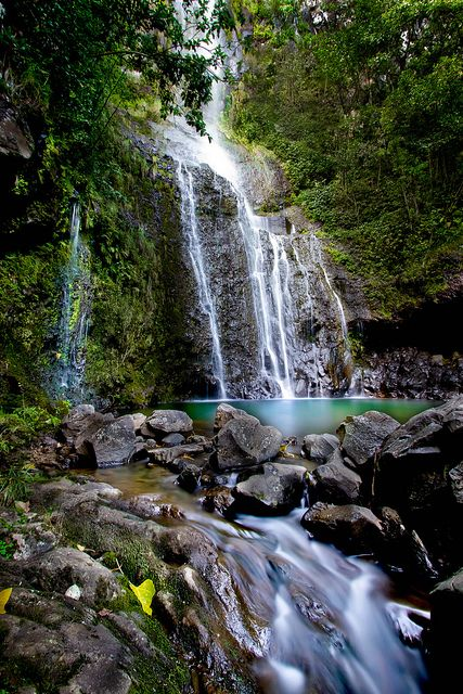 Wailua Falls in Hana, Maui, Hawaii.  ASPEN CREEK TRAVEL - karen@aspencreektravel.com