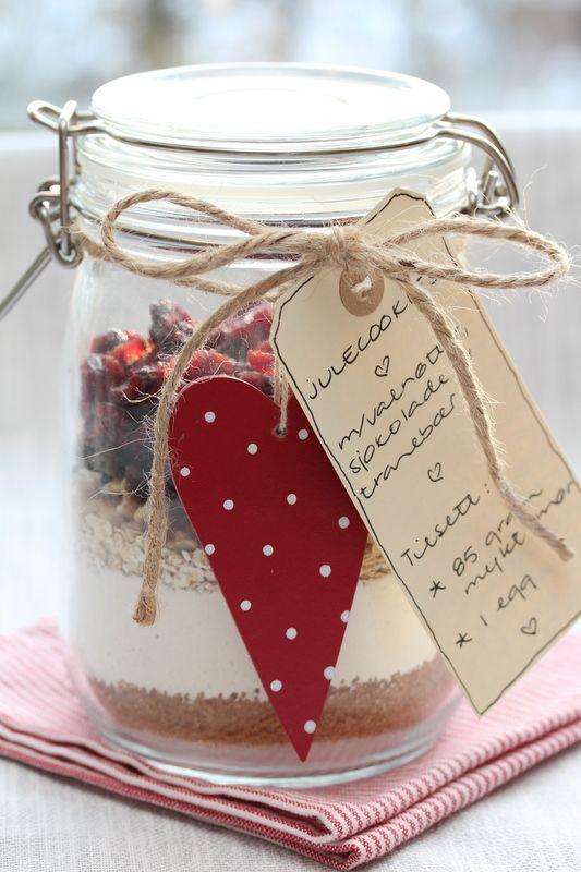 Julecookies på glass - spiselige gaver
