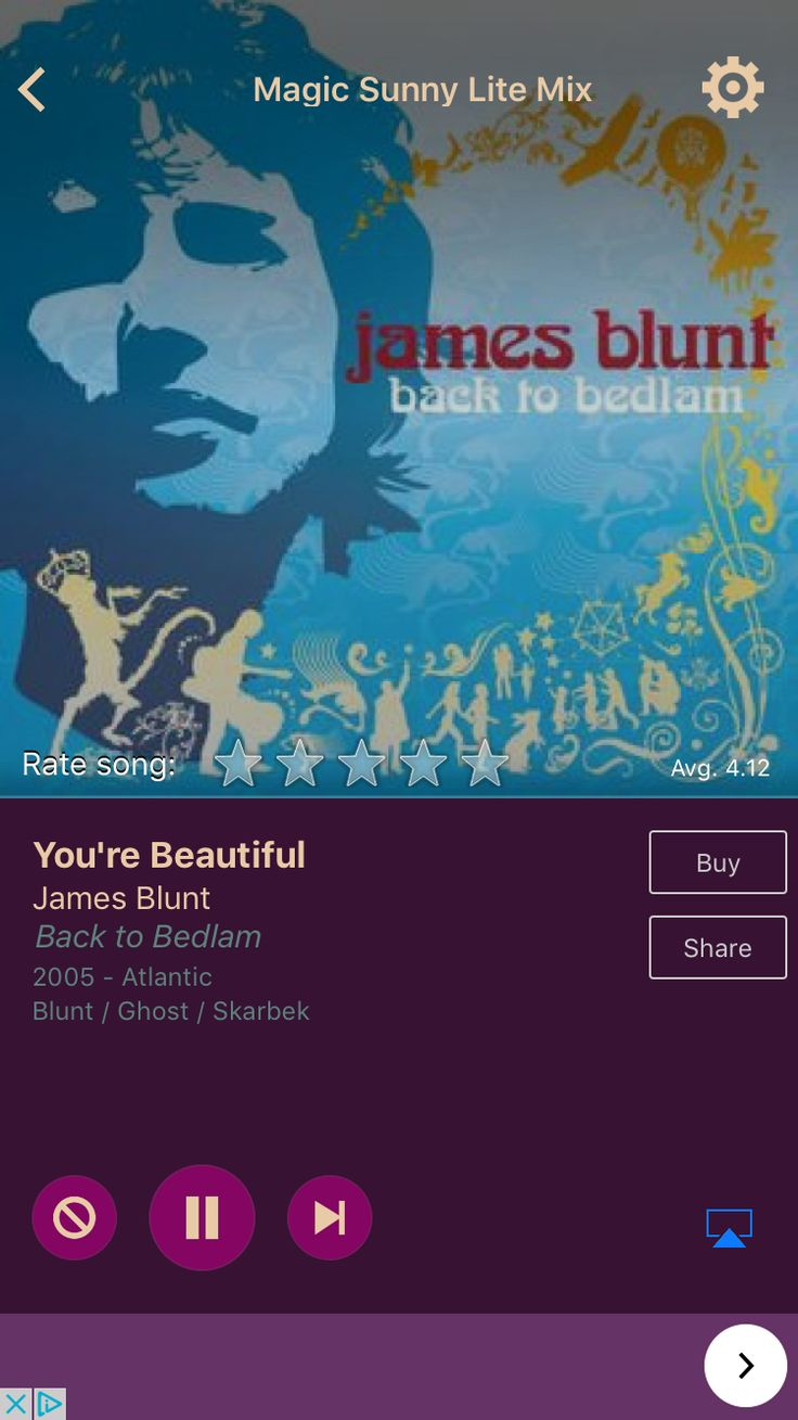 You're Beautiful by James Blunt on AccuRadio