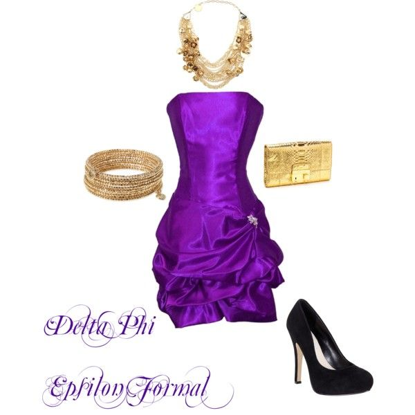 Delta Phi Epsilon Formal, created by all-sororities on Polyvore