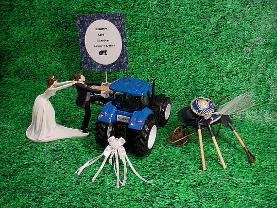 blue tractor wedding cake topper ford new blue tractor farm country by 12009