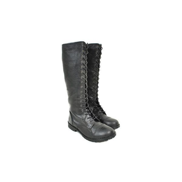 Blue Banana Tall Military boots – emo boots – womens emo footwear UK ($39) ❤ liked on Polyvore featuring shoes, boots, combat boots, combat booties, tall boots, blue combat boots and blue boots