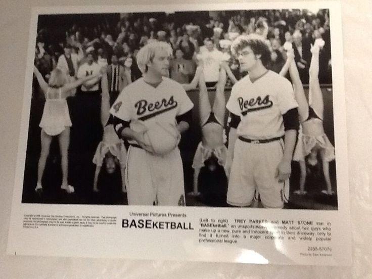 "BASEketball Movie Photo Trey Parker Matt Stone Black  White 8x10"""