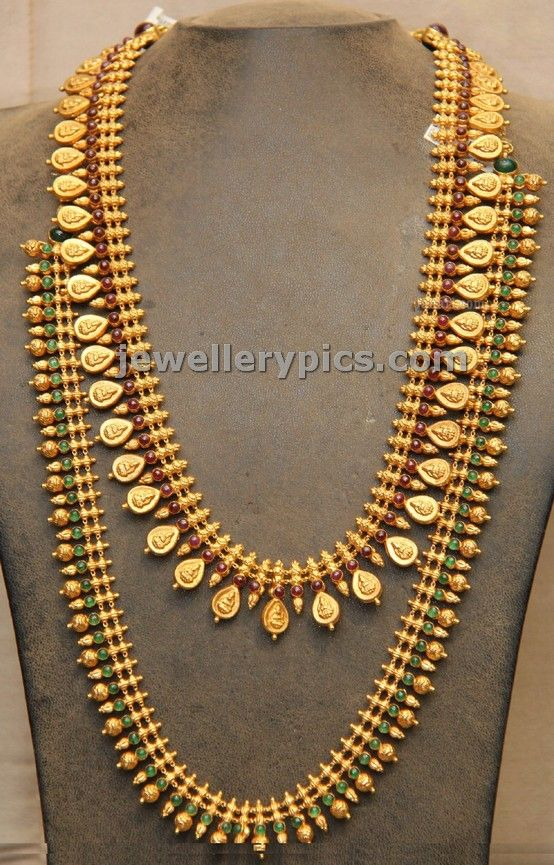 Traditional Temple Jewellery haram designs by Hiya - Latest Jewellery Designs