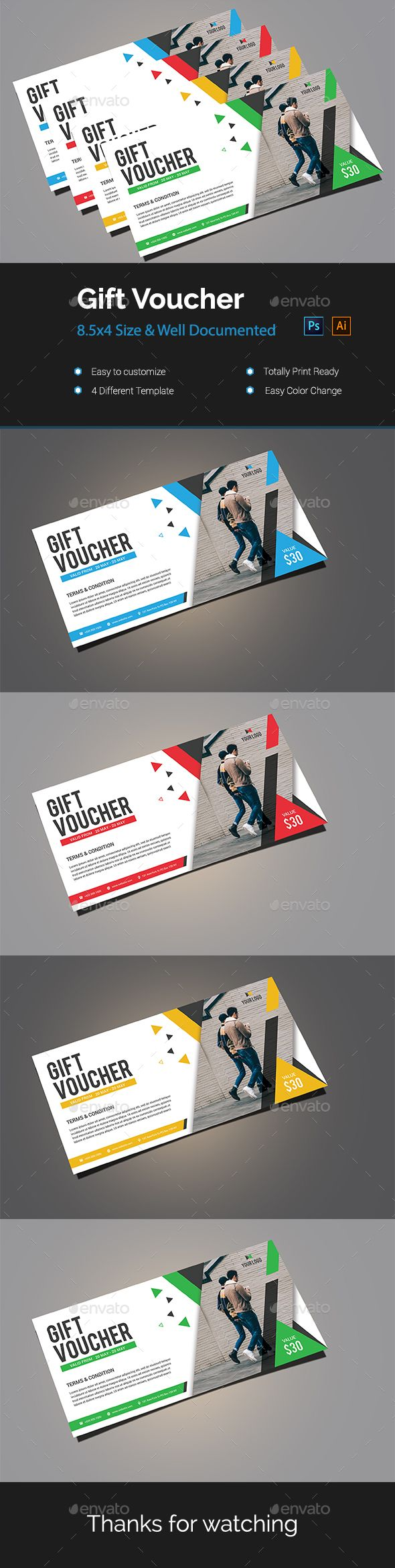 68 Best Gift Voucher Templates Images On Pinterest Gift Card Gifts