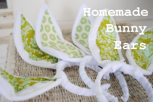Dahlhart Lane: Homemade Bunny Ears for Easter {tutorial}  Felt (I made eight with a yard and a half with plenty fabric to spare). -Wire (Mine is 18 gage from Lowes). -Fabric (Just big enough to cut two bunny ear inserts). -Headband (The Dollar Tree has them for two for a dollar) -Hot glue gu