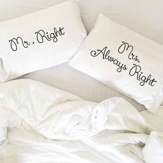 Couple pillowcase, creative pillow (Set of 2)  Very romantic, funny and interesting gift Mr and Mrs for him and her. Will decorate every bedroom