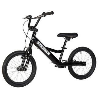 """Strider 16"""" Sport (черный)  — 18200р. -------------------------- Беговел Strider 16"""" Sport (черный) оптимален для тех, кто только учится кататься на велосипеде, для детей с особыми потребностями и для райдеров, совершенствующих свое мастерство в экстремальном катании на беговеле. Максимальную безопасность обеспечивают 2 ручных тормоза на каждое колесо - """"V""""-Brake. Руль имеет низкий вынос, который регулируется по высоте и углу наклона. Дополнительная перекладина руля и двойное соединение…"""