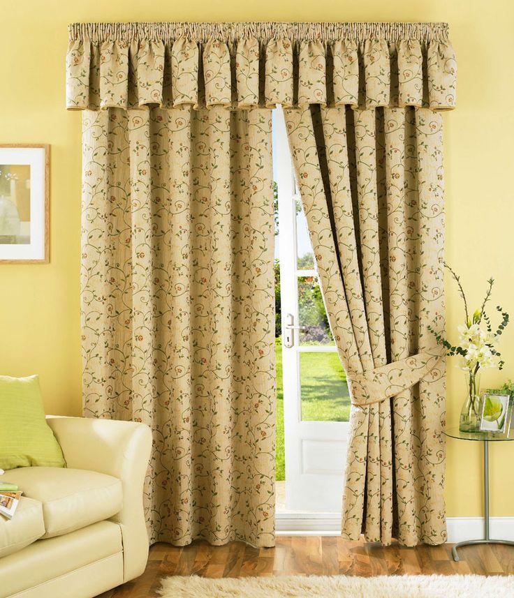 Cedar Natural Pencil Pleat Curtains