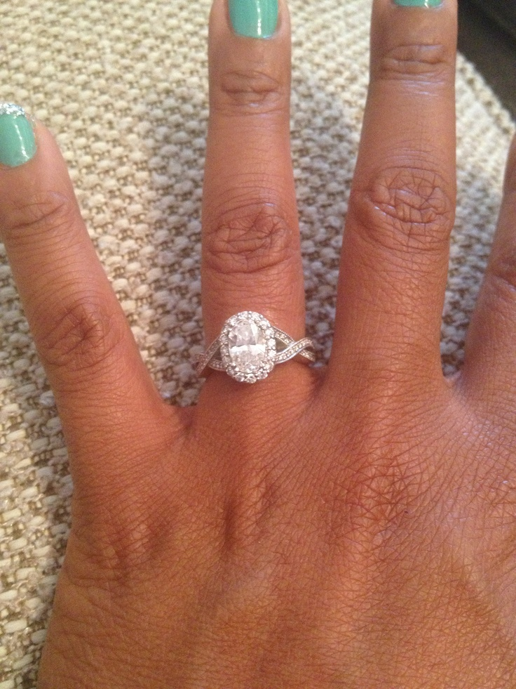 Oval Diamond Twisted Band My Perfect Engagement Ring