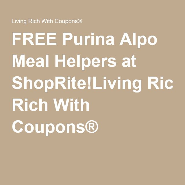 FREE Purina Alpo Meal Helpers at ShopRite!Living Rich With Coupons®