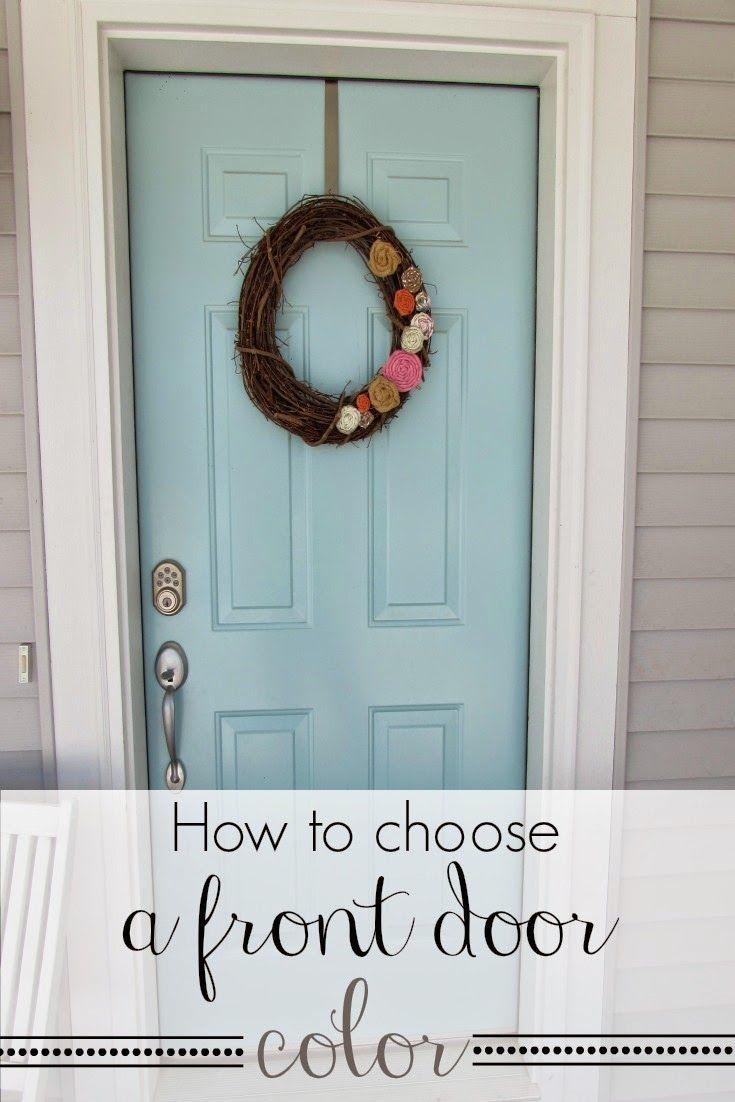 How To Choose A Front Door Color Homedecor Frontdoor