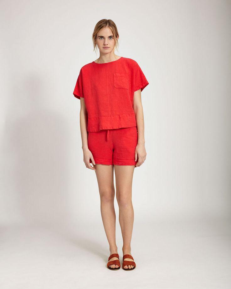 Women's Linen Short | Toast