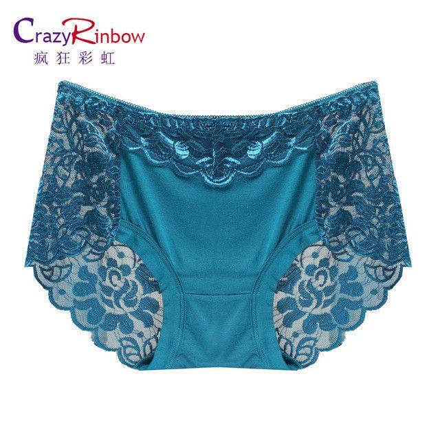 Women underwear briefs sexy women's Panties full transparent lace seamless string plus size women underwear panty
