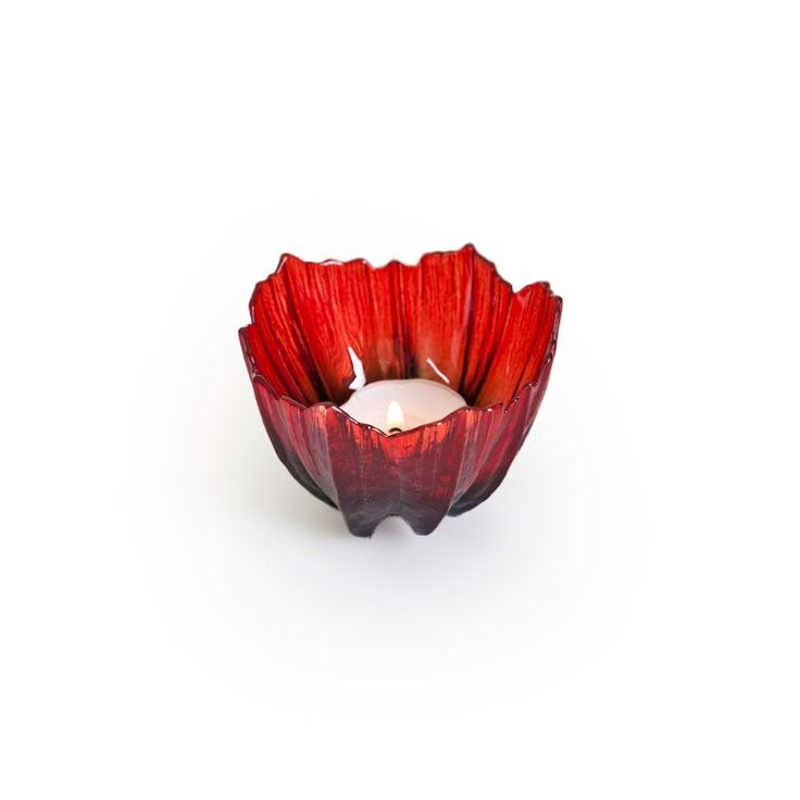 Poppy votive Mats Jonasson from his new collection that consist of bowls in various size. This is the smallest.