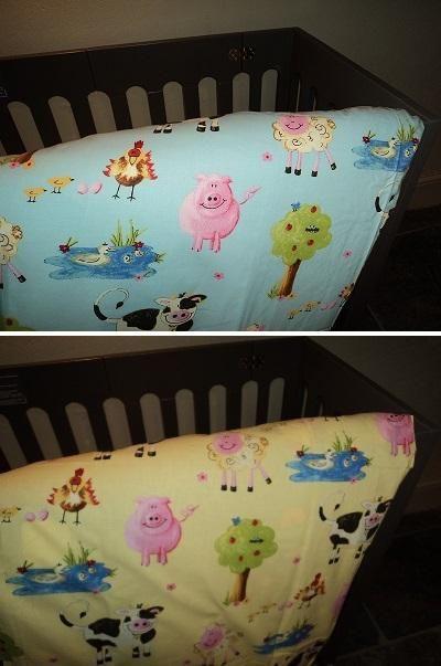 Farm design cot-bed duvet sets £36.95 Hippins childrens curtains & bedding