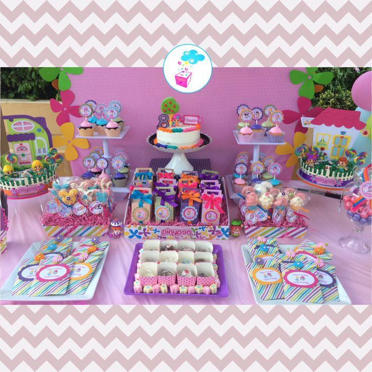 Pinypon Birthday party. Mesa de dulces con el tema pinypon! Siguenos en FB www.myshowerbox.com