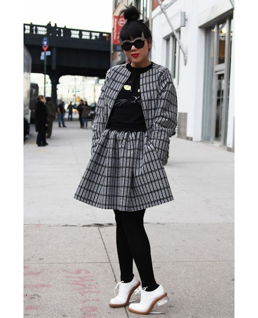 At NYFWStreet Fashion, Cat Fashion, Cat Eye, Susie Bubbles, Street Style, Cat Sweaters, Simon Rocha, Concrete Catwalks, Susie Lau