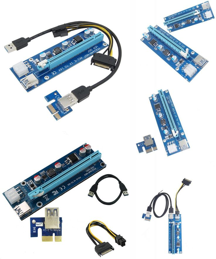[Visit to Buy] 2017 new USB 3.0 PCI-E PCI E Express Riser Card 1x to 16x Data Cable 60cm SATA Power Cable for BTC Miner Machine bitcoin mining #Advertisement