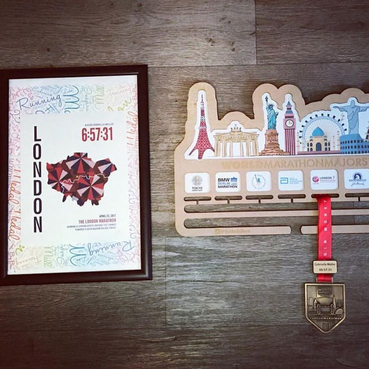 London Marathoner Map gift for runner