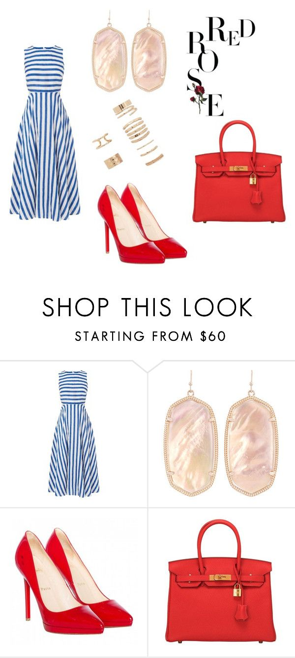 """Untitled #90"" by acaguiar on Polyvore featuring L.K.Bennett, Kendra Scott, Christian Louboutin, Hermès and Forever 21"