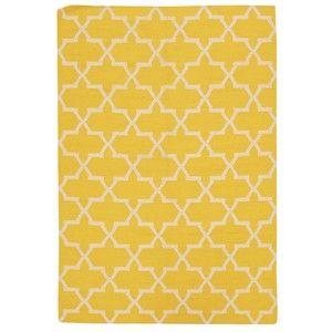 Ručně tkaný koberec Kilim Design One Yellow, 160x230 cm