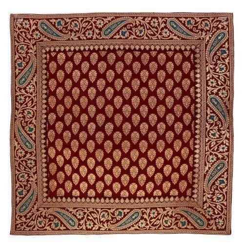 Cuscino coperture cuscino caso 45x45 tessuto broccato di seta indiana arredamento casa di ShalinIndia, http://www.amazon.it/dp/B00EOI0HNO/ref=cm_sw_r_pi_dp_VAcPtb0QKQC3V