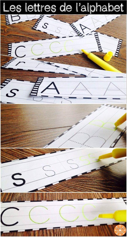 L'alphabet - écriture des lettres. Excellente activité à ajouter dans le centre…