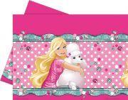 barbie doğum günü masa örtüsü 120x180 cm ebatında