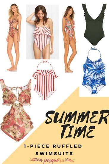 Trending – Beautiful 1-piece ruffled swimsuits #swimsuit #watermelon #bodysuit #glamour #model #modeling #loveityou #bikini #bikinilife #tan #tanlines #beachday #beach #beachdays #ocean #beachdayeveryday #beachbabe #wanderlust #swimming #travel #maldives