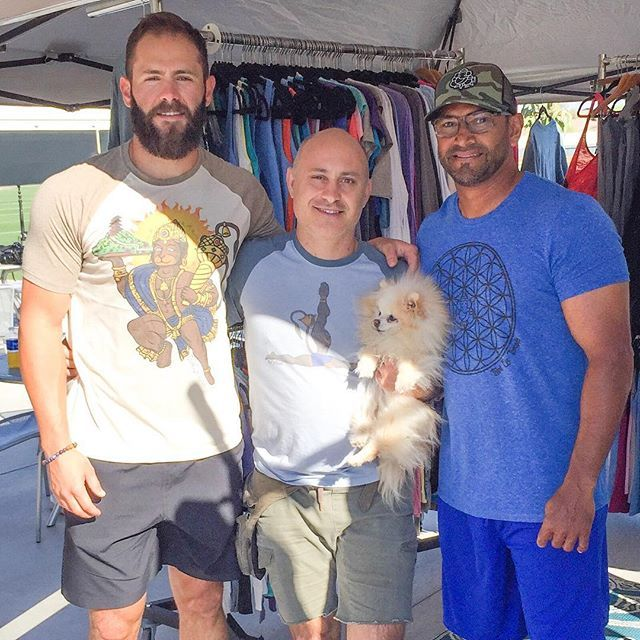 Da Cubs!  I felt like I was with the Spartans from 300.  Jake Arrieta and Coach Dave Martinez.  The were loving Third Eye Threads. The super nice guy buying shirts for his wife, the Cubs massage therapists, and himself was pitcher Jake Arrieta.  He picked out the Run DMC Hanuman raglan on his own. I was so happy to have the time to tell him the meaning behind the Hanuman Mountain design.  Coach Dave Martinez was going to go hunting with our Camo Ganesh trucker.  I thought that was awesome…