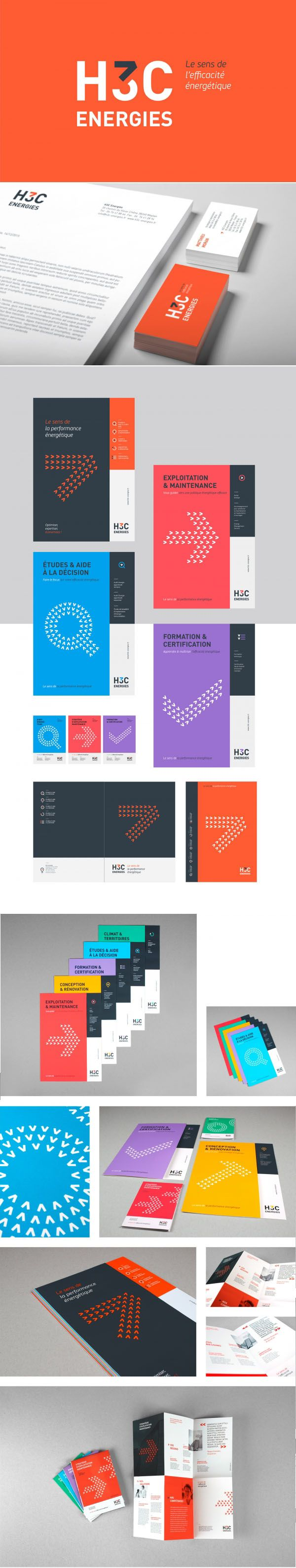 H3C Energies - Brand Design by Graphéine