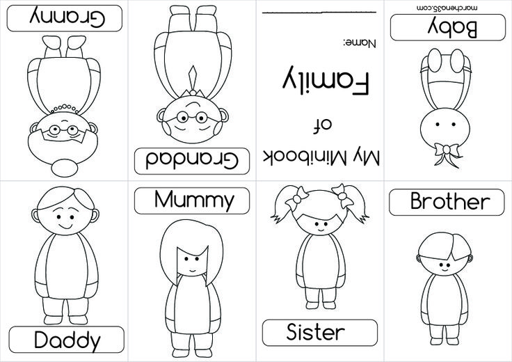 family coloring book - Google Search