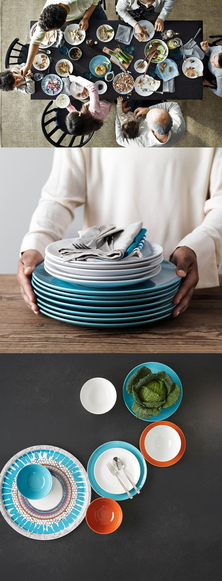 FÄRGRIK dinnerwareu0027s simple functional design is easy to coordinate with other colours and shapes & 104 best IKEA FARGRIK images on Pinterest | Different shapes Dishes ...