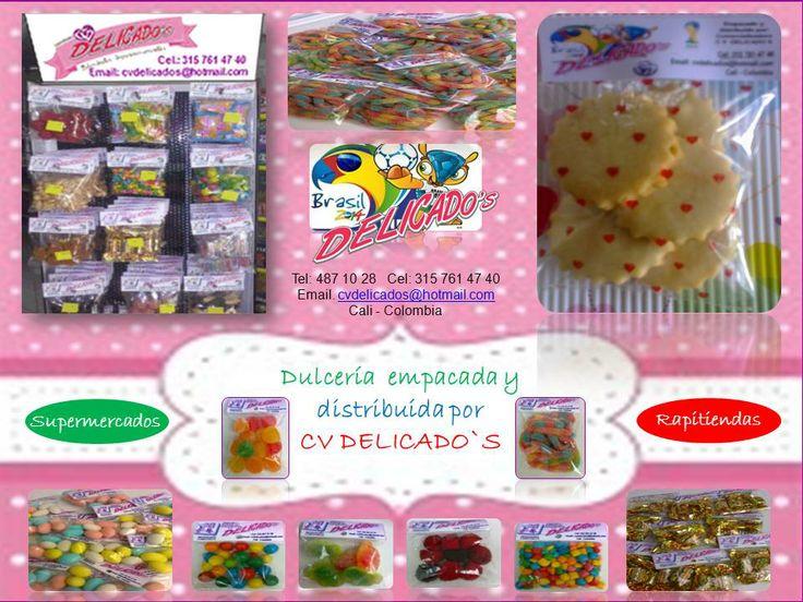 CVDELICADOS es una comercializadora que a parte de manejar las impresiones comestibles, distribuye toda clase de dulces y galleterias