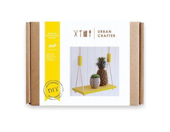 Urban Crafter Scallop Print Plant Swing DIY kit by UrbanCrafterDIY Packaging