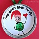 """""""Little Helper"""" Fingerprint Elf Ornament for Kids to Make"""