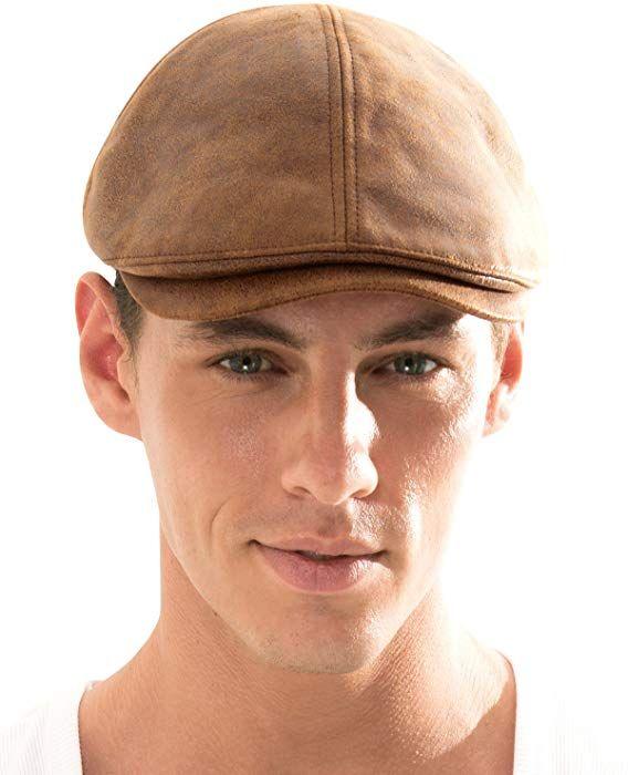 82c271a5ab5e7 ililily New Men¡¯s Flat Cap Vintage Cabbie Hat Gatsby Ivy Caps Irish  Hunting Hats Newsboy with Stretch fit - 001-2
