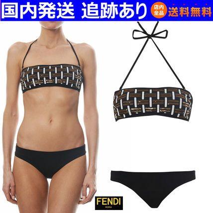 14SS☆スパンコール バンドゥ ビキニ 黒☆FENDI フェンディ