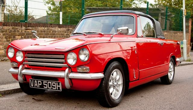 1970 Triumph Vitesse Mark II convertible. Maintenance/restoration of old/vintage vehicles: the material for new cogs/casters/gears/pads could be cast polyamide which I (Cast polyamide) can produce. My contact: tatjana.alic@windowslive.com