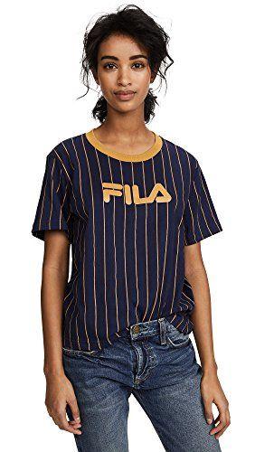 b73f4284468d Fila Women s Lonnie Pinstripe T-Shirt
