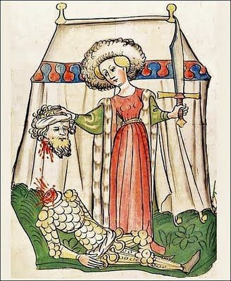 1440s Diebold Lauber, Title page to the Book of Judith, 1441-1449 German Bible, Heidelberg University Library, Germany